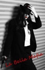 BELLA HAT RED LIPS FLIPPED W la bella mafia